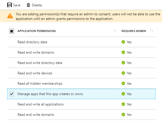 Azure Active Directory v1 0 App Provisioning - Visual Studio
